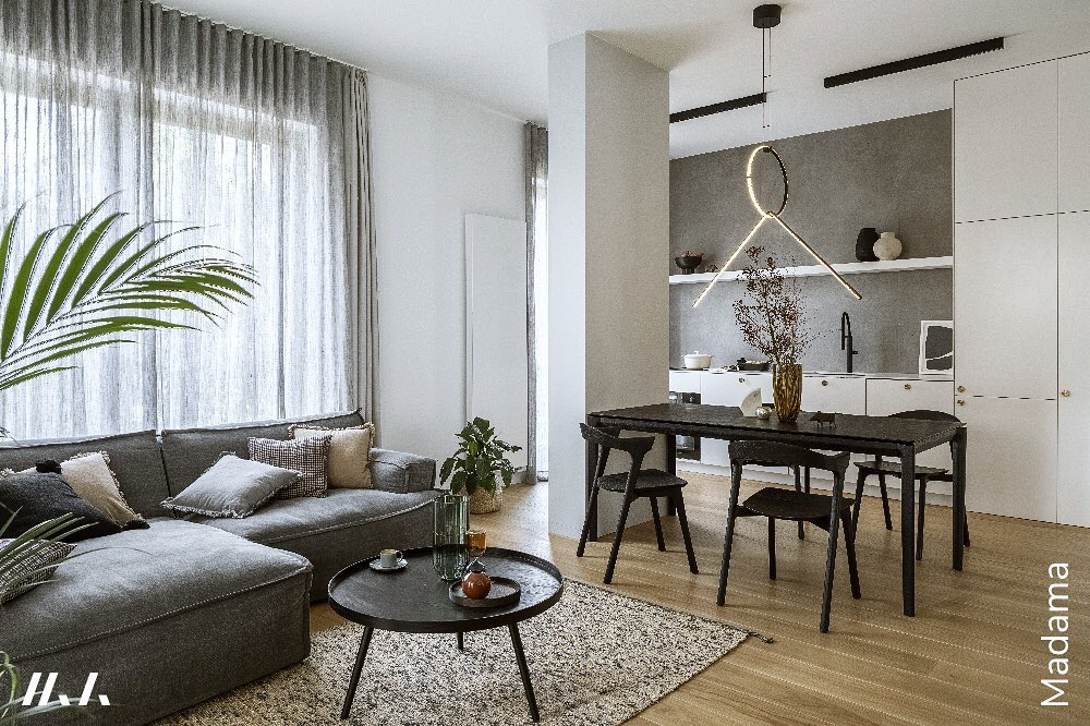sofa Le Noir we wnętrzu Madama