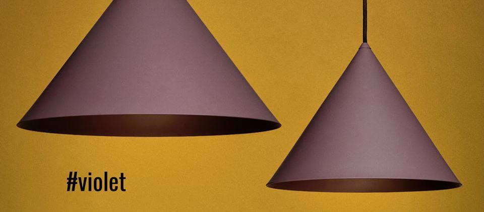 lampy w kolorze fioletowym