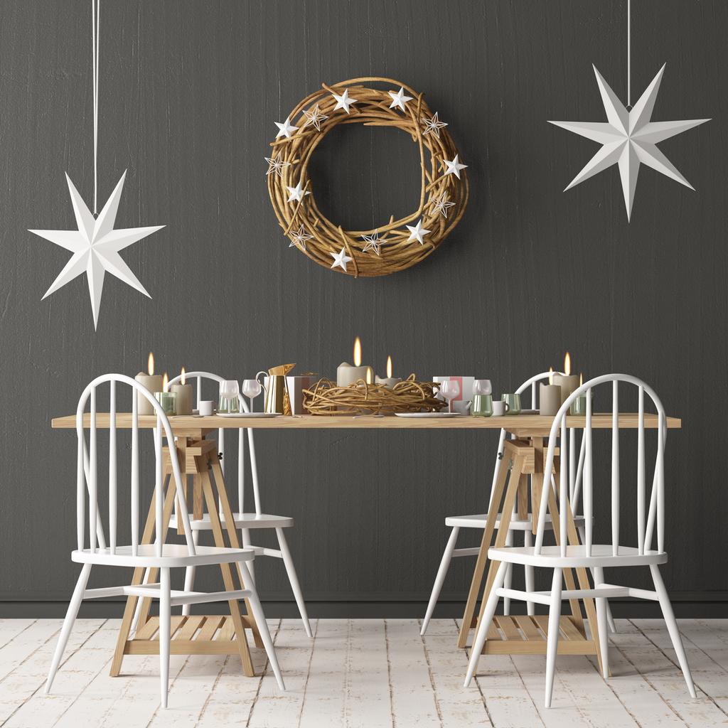 świąteczny stół w stylu rustykalnym